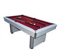 שולחן ביליארד 8 פיט CROSBY מעוצב במסגרת לבנה מודרנית ובד בצבעים לבחירה