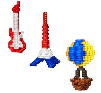 משחק חופש ליצירה 240 קוביות מוארות LIGHT STAX, תואם גודל קוביות LEGO - משלוח חינם!