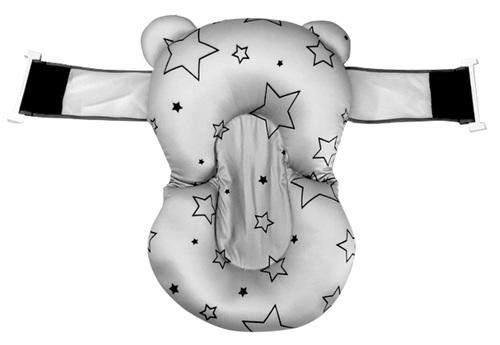 צף-קל - כרית אמבטיה לתינוק רצועות אבטחה - אפור כוכבים