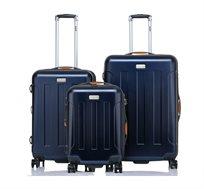 סט 3 מזוודות בגדלים שונים JEEP MIAMI בצבע כחול כהה