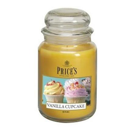 נר ריחני בניחוח Vanilla Cupcake בגדלים לבחירה