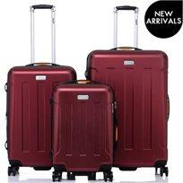 JEEP ג׳יפ סט 3 מזוודות קשיחות Miami בורדו מטאלי