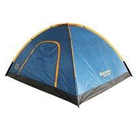 אוהל איכותי ל-4 אנשים מבית DISCOVERY עשוי מאריג בד פוליאסטר להגנה מפני השמש ולאוורור מקסימאלי