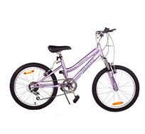 אופני הרים 6 הילוכים עם בולם זעזועים קדמי בצבע סגול
