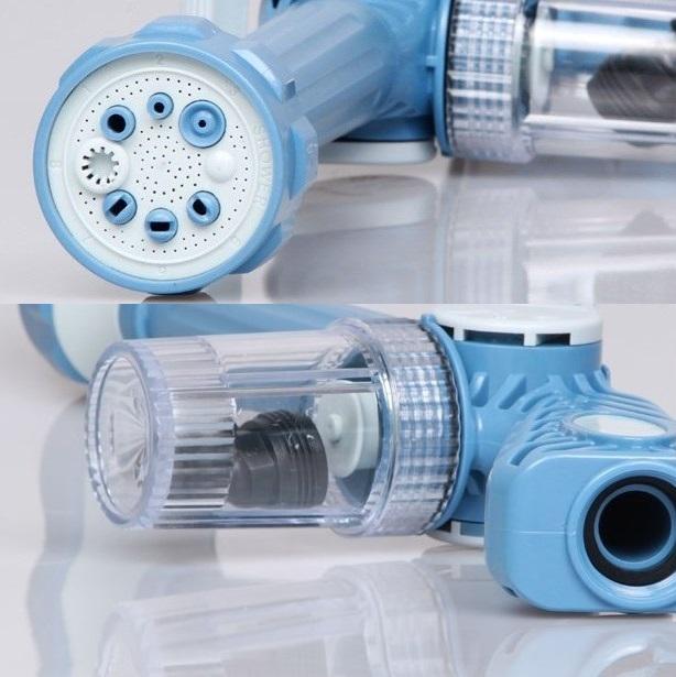 מנקים את החלונות בקלות עם EZ Jet Water Cannon תותח מים סילוני בעל 8 יציאות שונות ומיכל סבון מובנה - משלוח חינם - תמונה 3