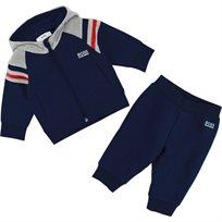 BOSS בוס חליפה (6-18 חודשים) - כחול כהה שילוב אפור