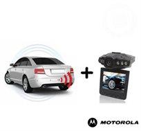 ערכת בטיחות מושלמת לרכב! מצלמת וידאו לרכב + חיישני רוורס עם תצוגת LED צבעונית וצג איכותי + התקנה!