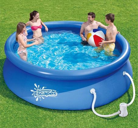 מעולה  שוחים לקיץ! בריכת שחייה עגולה מתנפחת מבית SUMMER ESCAPES, ללא צורך OR-64