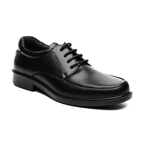 Schultz - נעל עור קלאסית שחורה לגבר בשילוב שרוכים