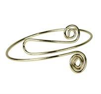 צמיד לזרוע עליונה בעיצוב ספירלה מציפוי זהב מתאים לכל מידה - משלוח חינם!