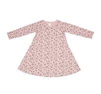 שמלת ג'רזי מסתובבת בגזרה מפנקת עם לולאת סגירה בעורף  -  ורוד עם לבבות