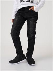 מכנס גינס טלאים