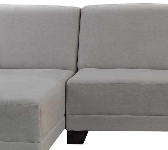 ספת שזלונג בעיצוב מודרני מבד איכותי נוח ומפנק דגם שחף כולל 2 כריות נוי מתנה - תמונה 6
