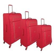 סט מזוודות הקלות ביותר 4 גלגלים Delsey Dauphine