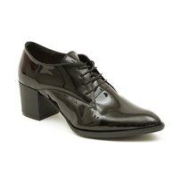 Seventy Nine - נעלי עקב אוקספורד עור בצבע שחור לקה