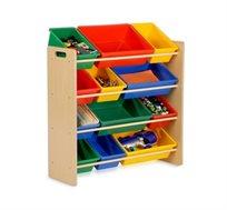 ארגונית לילדים הכוללת 12 קופסאות אחסון