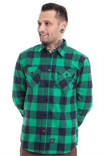 חולצת פלאנל SUPPLY - ירוק ושחור