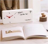 מתעוררים בכיף! שעון עם לוח מחיק לכתיבת הודעות, תזכורות או סתם לציור - משלוח חינם!