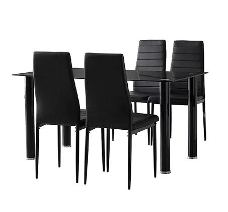 פינת אוכל מודרנית כוללת שולחן ו-4 כסאות דגם ונציה