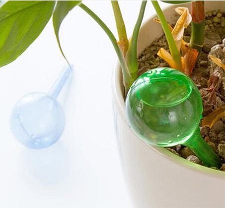 סט שלוש בועות השקיה אוטומטיות לעציצים המשקה עד 10 ימים ללא התערבות - תמונה 2