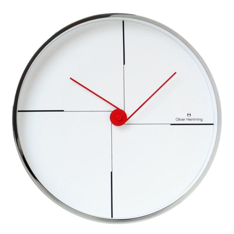 שעון לבן רבעים ללא ספרות