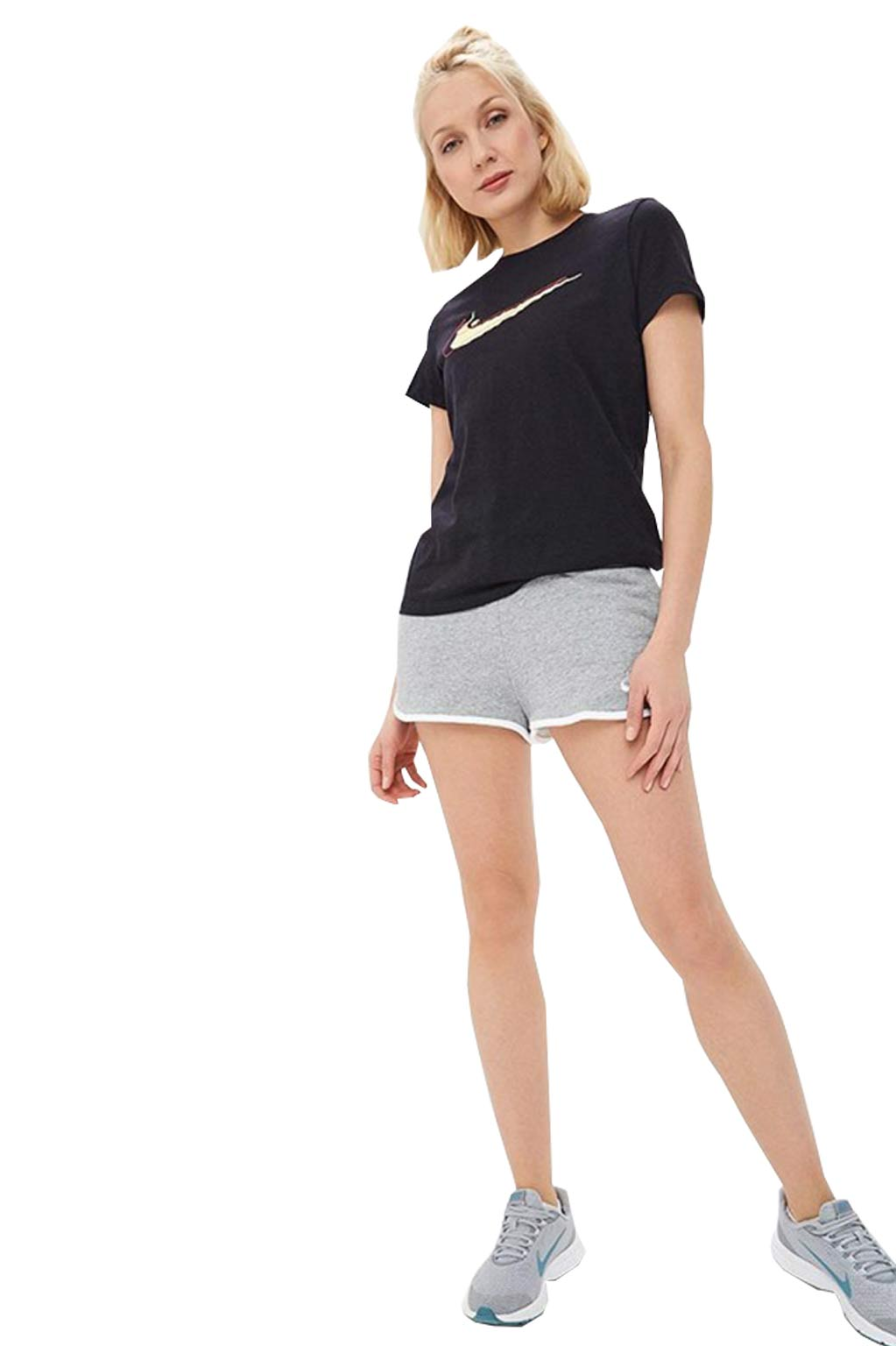 חולצת טי שירט לנשים - שחור