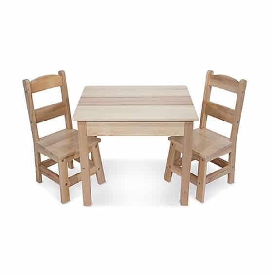 שולחן ו2 כיסאות מעץ מליסה ודאג - משלוח חינם - תמונה 2