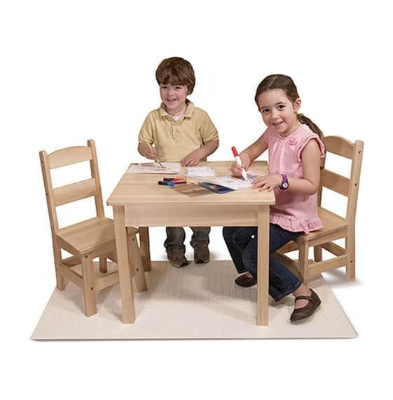 שולחן ו2 כיסאות מעץ מליסה ודאג - משלוח חינם - תמונה 3