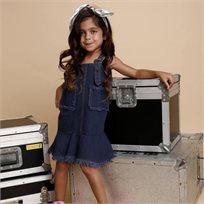 ORO שמלת ג'ינס (7-2 שנים)- כחול