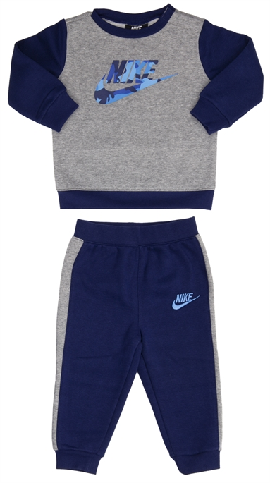 Nike ילדים קטנים //  Futura Camo Crew And Jogger Set