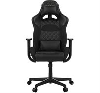 כיסא גיימינג Gamdias ACHILLES E1 כולל כרית ראש וגב עם תאורת RGB בגב הכיסא וגב מתכוונן עד 150 מעלות