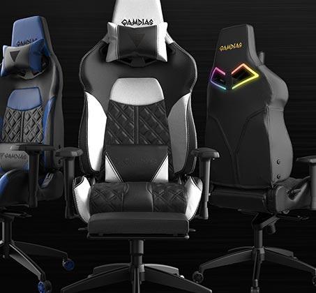 כיסא גיימינג Gamdias ACHILLES E1 כולל כרית ראש וגב עם תאורת RGB בגב הכיסא וגב מתכוונן עד 150 מעלות - תמונה 5