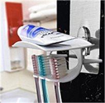 מתלה הפלא למברשות שיניים הנצמד למשטח ללא קידוחים
