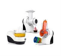 מכשיר MASTER VIT PLUS המשמש כמעבד מזון פומפיה מסחטת הדרים ומכונת גלידה