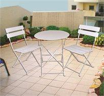 סט שולחן וכסאות מתקפלים לחצר ולמרפסת