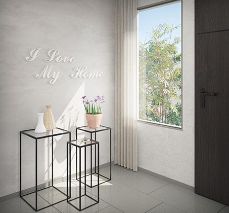 שלישיית שולחנות צד ממתכת בשילוב זכוכית דגם מילאנו