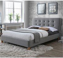 מיטת וחצי לנוער ברוחב 120 בריפוד בד אריג עם תפרי נוי דגם טנגו HOME DECOR