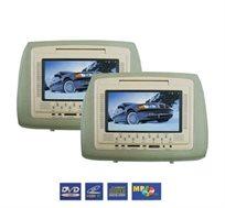 "DVD לרכב, כולל 2 משענות ראש עם מסך ""7 HD איכותי, לתמונה חדה, ב-8 תשלומים, התקנה חינם"