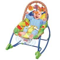 טרמפולינה לתינוק עם כיסא נדנדה 3 ב 1 - פרפרים צבעוניים
