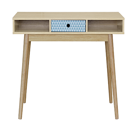 שולחן מחשב עם מגירה וחללי אחסון בעיצוב חדשני