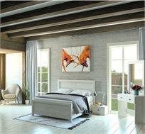 סט ריהוט לחדר השינה הכולל מיטה, שתי שידות לילה, שידת איפור ומראה דגם SUMMER במגוון צבעים לבחירה