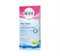 מארז 3 יחידות רצועות שעווה ויט לעור רגיש מוכנות לשימוש Veet Wax strips