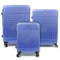 Swiss Travel Club - סט 3 מזוודות קשיחות בצבע שחור