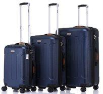JEEP MIAMI סט 3 מזוודות קשיחות Navy Blue