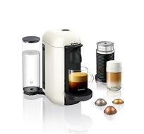 מכונת קפה NESPRESSO VertuoPlus בצבע לבן כולל מקציף חלב ארוצ'ינו דגם A3GCB2