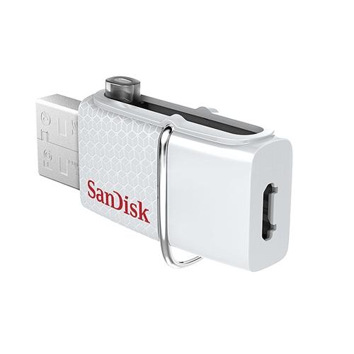 זיכרון נייד Ultra Dual USB Drive 32GB מבית SanDisk דגם SDDD2-032G-G46W צבע לבן