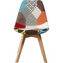 כיסא לפינת אוכל Patchwork Kenya - צבעוני - משלוח חינם