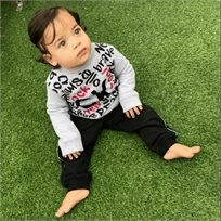 Calvin Klein חליפת פוטר (24-12 חודשים) - כיתוב