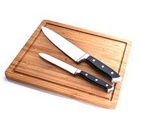 סט סכינים עם בוצ'ר עץ