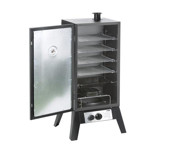 מעשנת גז אנכית 4 קומות איכותית לעישון בשר ודגים Australia Chef - תמונה 2